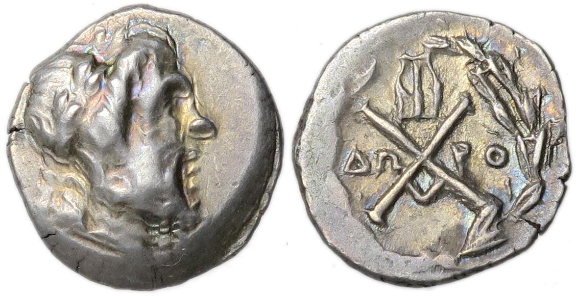 Achaean League Megara Ar Tetrobol Zeus 175 168 Bc