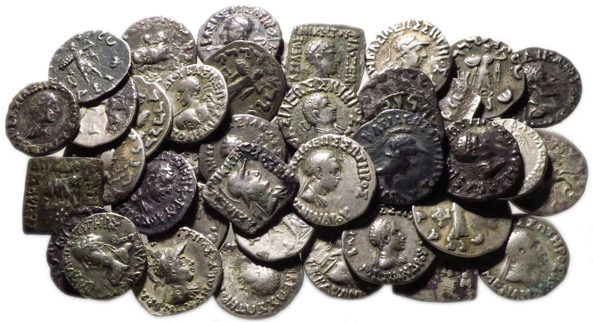 Dealer's Lot of 40 Indo-Greek AR Drachms, 2nd Century BC