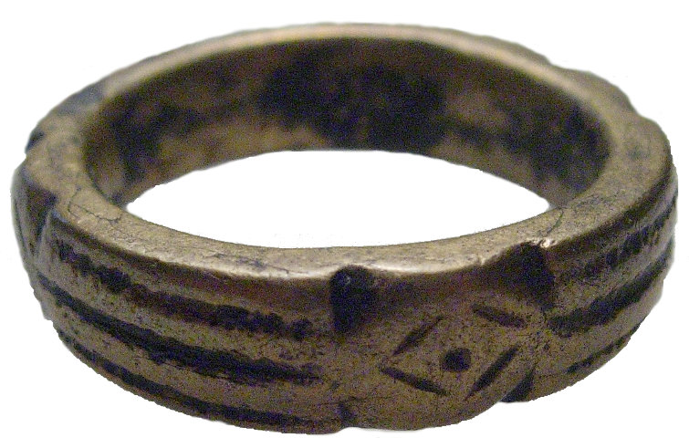 Ancient Electrum Ring, 1st to 3rd centuries AD