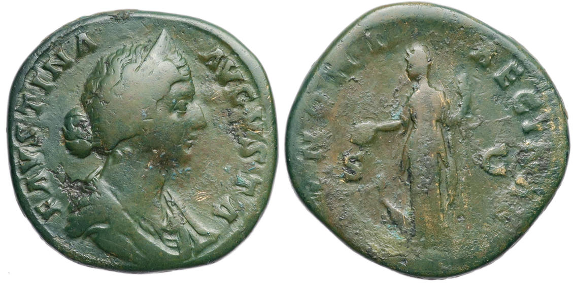 Faustina II the Younger, Sestertius, 168-169 AD