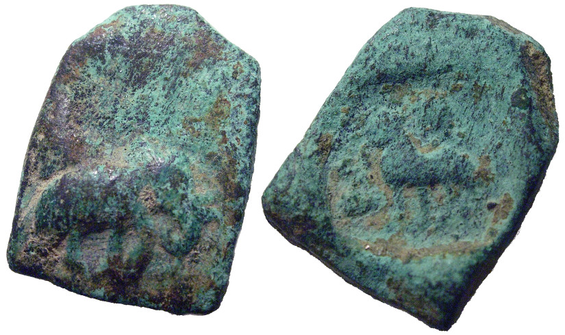 Taxila, Ancient India, Double-die, 304-232 BC