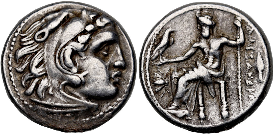 Kingdom of Macedon, Alexander III 'the Great', 336-323 BC, AR Drachm, Magnesia ad Maendrum mint, struck 323-319 BC