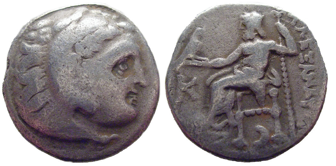 Alexander the Great, AR Drachm, 319-310 BC