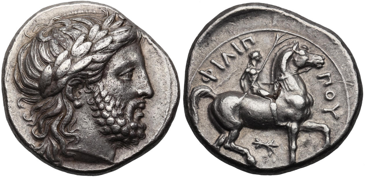 Kingdom Of Macedon Philip Ii 359 336 Bc Ar Tetradrachm