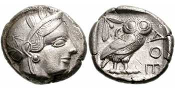 "᷅  <font color=""#FF0000""><b>SOLD</b></font color>:  Ancient Athens ""Owl"" Tetradrachm: aEF"