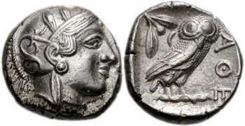 "᷅ <font color=""#FF0000""><b>SOLD</b></font color>:  Ancient Athens ""Owl"" Old Style Tetradrachm: Brilliant reverse!"