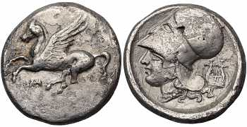 "᷅  <font color=""#FF0000""><b>SOLD</b></font color>: Akarnania, Anaktorion, AR Stater, ca. 350-300 BC"