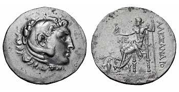 "᷅  <font color=""#FF0000""><b>SOLD</b></font color>: Alexander the Great Tetradrachm: 188-170 BC"
