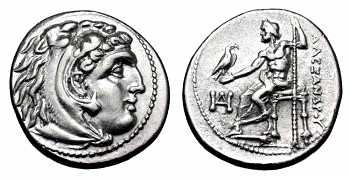 "᷅  <font color=""#FF0000""><b>SOLD</b></font color>: Alexander the Great Drachm: Lifetime issue"
