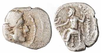 Alexander the Great, AR Obol, 336-323 BC