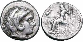 "᷅  <font color=""#FF0000""><b>SOLD</b></font color>: Macedon, King Philip III Drachm, 323-317 BC"