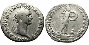 "᷅  <font color=""#FF0000""><b>SOLD</b></font color>: Silver Denarius of Domitian"