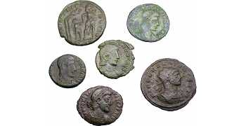 "᷅<font color=""#FF0000""><b>SOLD</b></font color>: Ancient Roman Coins Lot 1"