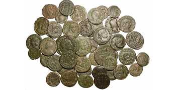 "᷅<font color=""#FF0000""><b>SOLD</b></font color>: Ancient Roman Coins: 50 bronzes"