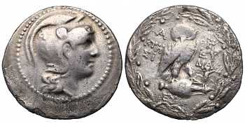 Attica, Athens, AR 'New Style' Owl Tetradrachm, c. 165-142 BC, Magistrates Ktesi and Euma, struck c.139/8 BC