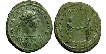 "᷅  <font color=""#FF0000""><b>SOLD</b></font color>: Silvered Aurelian antoninianus"