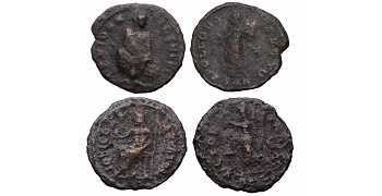 Dealer's Lot of 2 Anonymous coinage of Maximinus II Daia, 308-313 AD, from Antioch mint in Syria