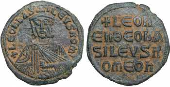 "Macedonian Dynasty, Leo VI, ""the Wise"", 886-912 AD, AE Follis"