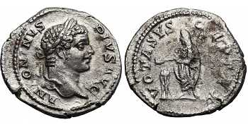 Caracalla, 198-217 AD, AR Denarius, Emperor Sacrificing at Altar, struck 217 AD
