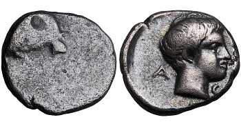 Caria, Uncertain Mint, Ram's Head, c. 400-340 BC
