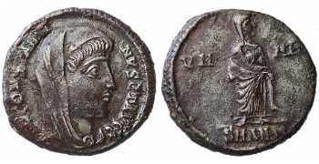 "᷅  <font color=""#FF0000""><b>SOLD</b></font color>: Divus Constantine I the Great, AE Silvered Follis, Posthumous Issue, 347-348 AD"