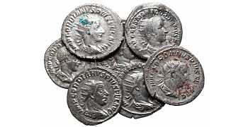 Dealer's Lot of 7 Gordian III Roman Silver Coins