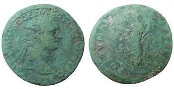 Domitian AE As, 87 AD