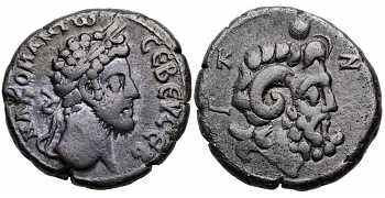 Commodus, 177-192 AD, Egypt, Alexandria, BI Tetradrachm, Zeus-Ammon, struck 186/187 AD