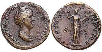 Faustina I the Elder, 138-141 AD, Ae Sestertius, Venus, Lifetime issue, struck 139-141 AD