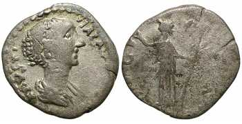 Faustina I the Elder, 138-141 AD, Barbaric Tribal Denarius Imitative, struck 140-150 AD