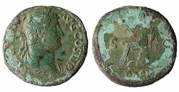 Hadrian, AE As, Dacia, 117-138 AD