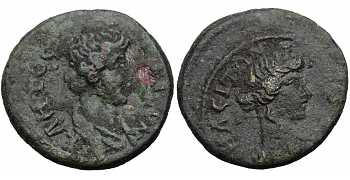 Lydia, Nacrassa, AE17, Pseudo-autonomous Issue, Time of Trajan to the Antonines,  98-161 AD