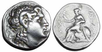 "᷅  <font color=""#FF0000""><b>SOLD</b></font color>: Lysimachos Tetradrachm: Real Portrait!"