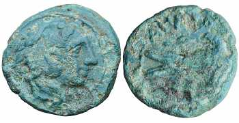 "᷅  <font color=""#FF0000""><b>SOLD</b></font color>: Alexander the Great, AE16, Eagle, Lifetime Issue, 336-323 BC"