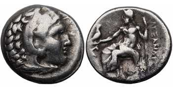 Kingdom of Macedon, Alexander III 'the Great', 336-323 BC, AR Drachm, Lampsacus mint, struck c. 323-317 BC