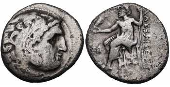 Kingdom of Macedon, Alexander III 'the Great', 336-323 BC, AR Drachm, Abydus mint, struck 310-301 BC