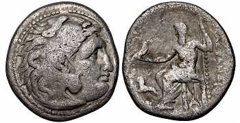 Kingdom of Macedon, Alexander III 'the Great', 336-323 BC, AR Drachm, Magnesia ad Maendrum mint, struck c. 305-297 BC