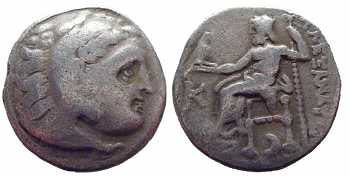 Alexander the Great, AR Drachm, Kolophon, 310-301 BC