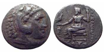 "᷅  <font color=""#FF0000""><b>SOLD</b></font color>: Alexander the Great, AR Drachm, Sardes, Lifetime Issue, 334-323 BC"