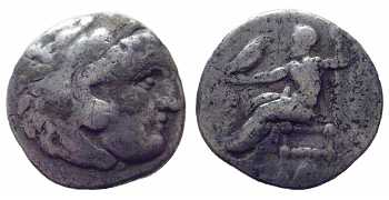 "᷅  <font color=""#FF0000""><b>SOLD</b></font color>: Alexander the Great, AR Drachm, Abydus, 310-301 BC"