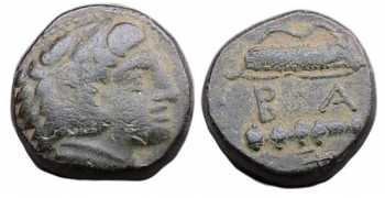 "᷅ <font color=""#FF0000""><b>SOLD</b></font color>:  Bronze coin of Alexander the Great"