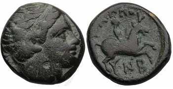 SOLD : Kingdom of Macedon, Philip II, AE16, AI Control