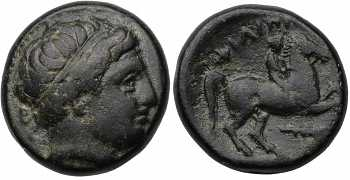 Kingdom of Macedon, Philip II, AE17, Club Control Mark, 359-336 BC