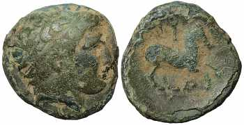 Kingdom of Macedon, Philip II, AE18, AI Control Mark, 359-336 BC