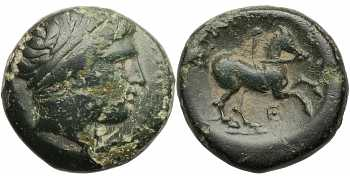 Kingdom of Macedon, Philip II, AE18, Theta Control Mark, 359-336 BC