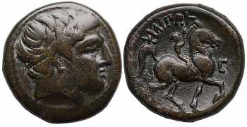 Kingdom of Macedon, Philip II, AE21, Double Unit, E (or lunate Σ) Control Mark, 359-336 BC