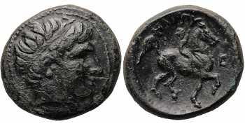 Kingdom of Macedon, Philip II, AE22, Double Unit, E (or lunate Σ) Control Mark, 359-336 BC