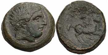 Kingdom of Macedon, Philip II, AE18, Spearhead Control Mark, 359-336 BC