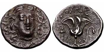 Kingdom of Macedon, Time of Perseus, 179-168 BC, Pseudo-Rhodian Coinage, AR Drachm, struck c. 171-168 BC