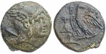 Coins & Paper Money Greek (450 Bc-100 Ad) Macedon Pella Bronze Lyre Kithara Apollo Ae20 Nice Coin